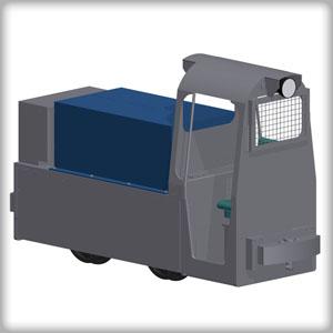 E-Lokomotive für Bergwerk